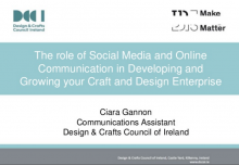 Using social media and online communication to develop and grow your craft and design business